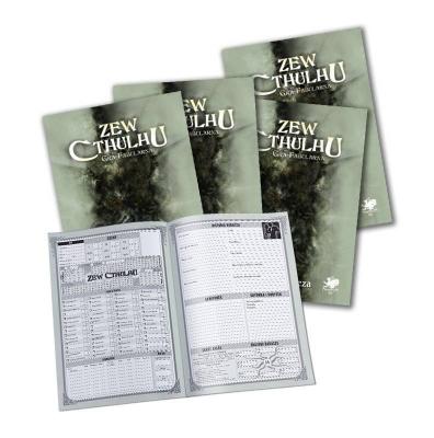 Kości RPG Zew Cthulhu Beżowo-czarne